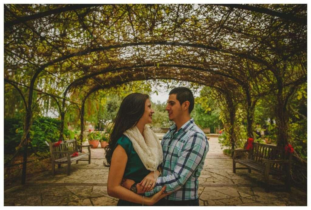 Nia and Robert Engagement Session San Antonio Botanical Garden-107