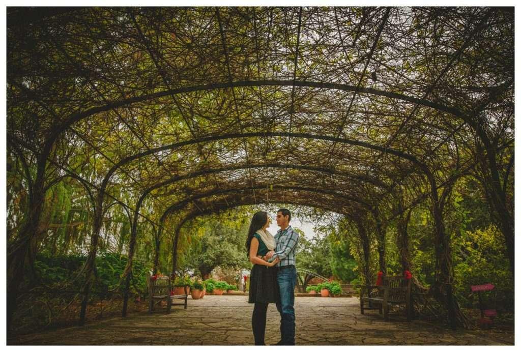 Nia and Robert Engagement Session San Antonio Botanical Garden-108