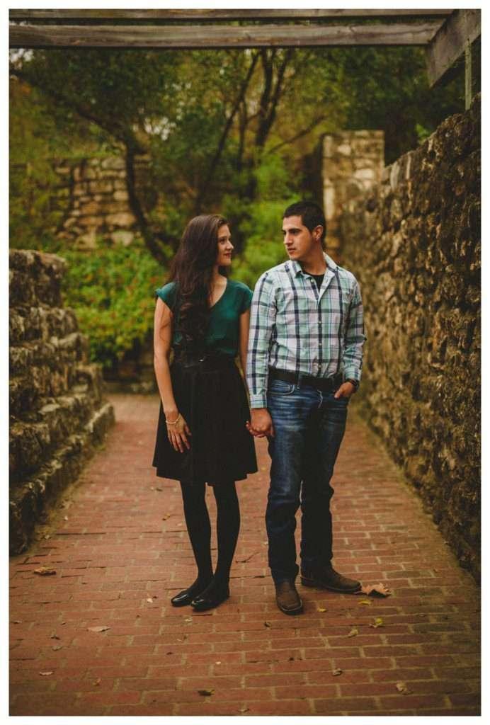 Nia and Robert Engagement Session San Antonio Botanical Garden-36